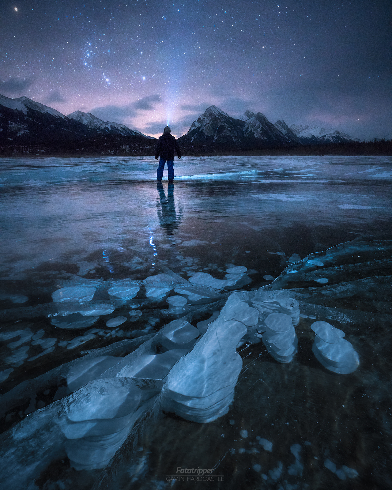 Abraham Lake Ice Bubbles - Jasper Photography Workshop