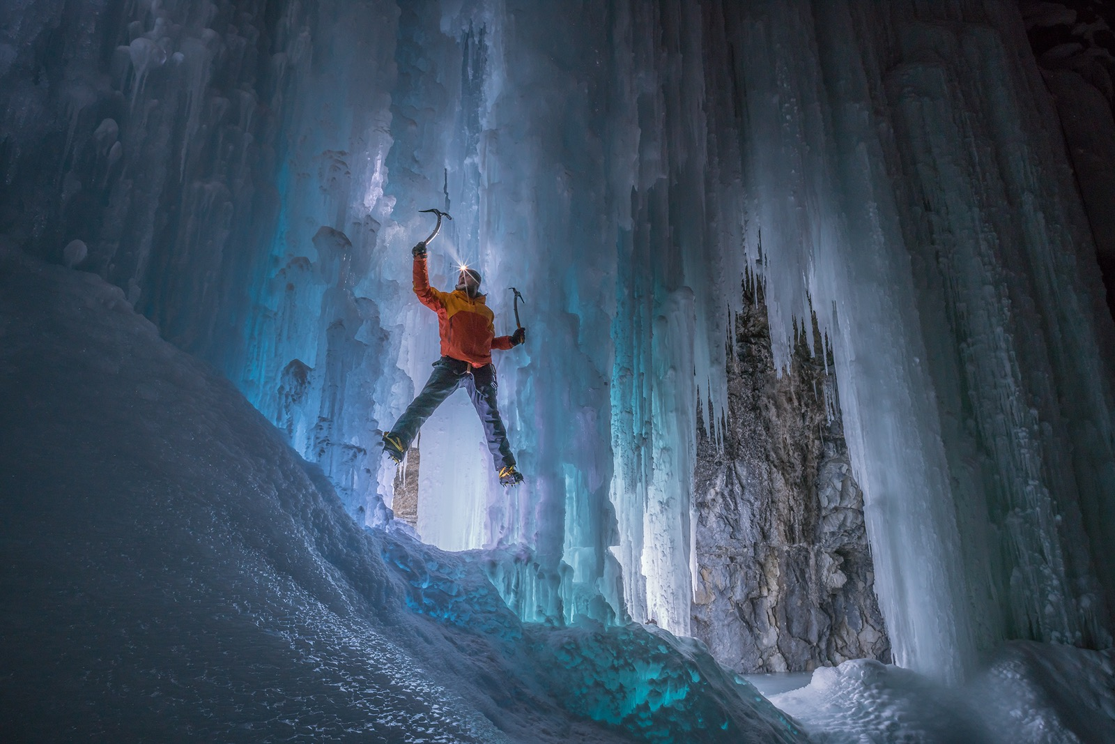 Haffner Creek ice climbing by Rachel Jones Ross