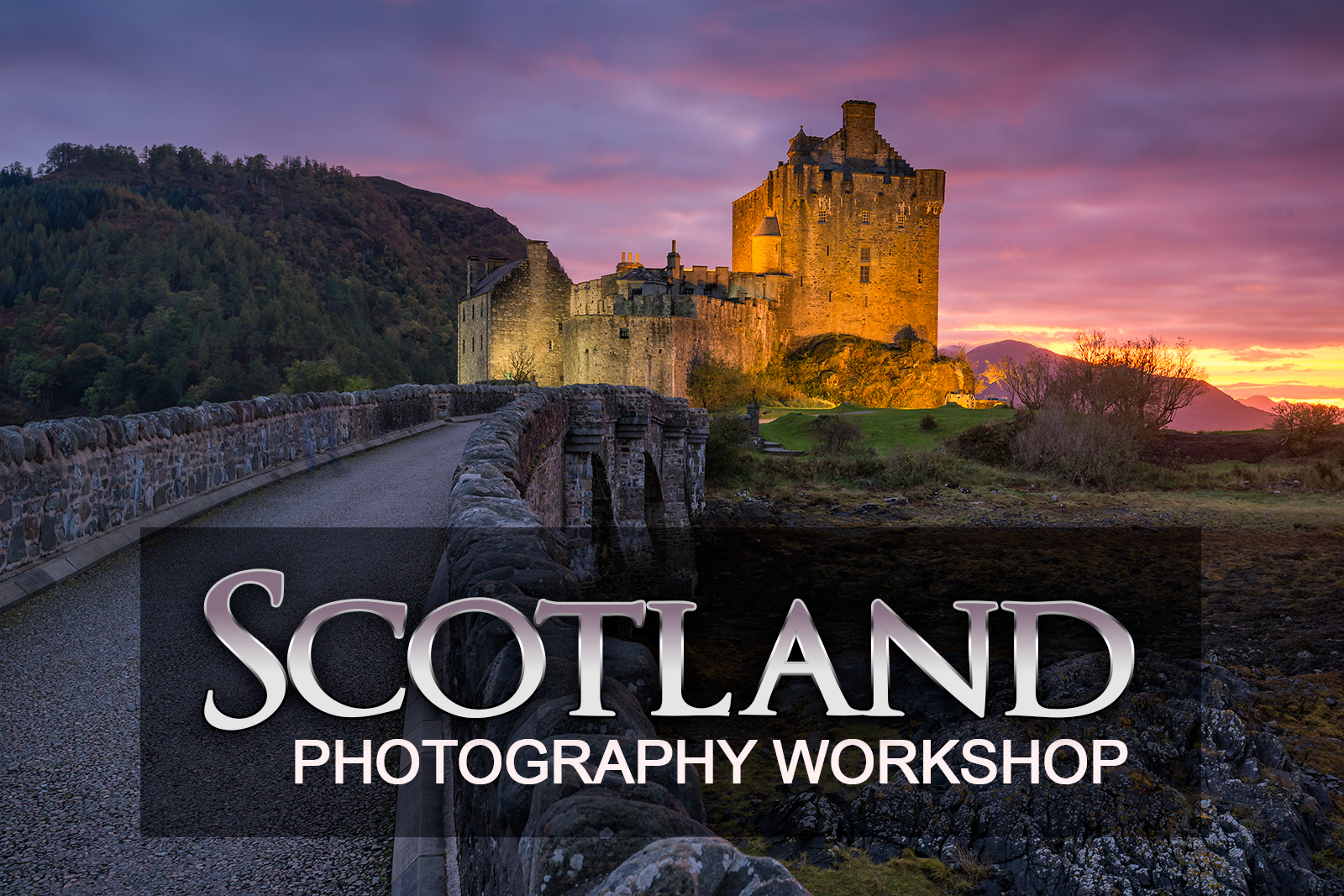 Scotland Photography Workshop second castle shoot at Eilean Donnan Castle.